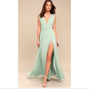 Heavenly Hues Mint Green Maxi Dress